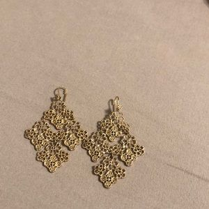 Gold color drop earring